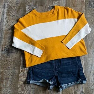 ONLY:  3/4 length sleeve pullover sweater